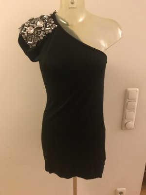 Blumarine Cocktail Dress black-silver-colored