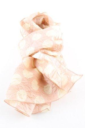 Blumarine Sciarpa stropicciata color carne-crema motivo a pallini stile casual