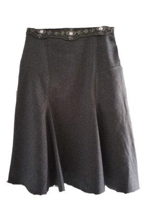 Blumarine Wełniana spódnica szary Wełna