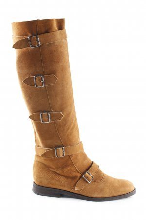 Blumarine Jackboots cognac-coloured simple style