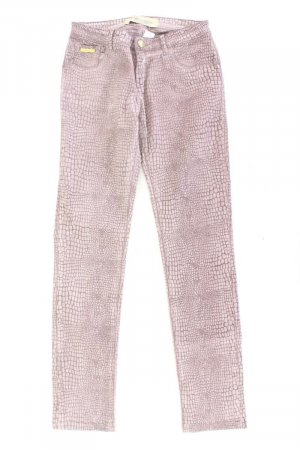 Blumarine Skinny Jeans Größe 36 mit Tierdruck lila aus Baumwolle