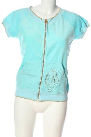 Blumarine Sweatshirt turquoise style décontracté