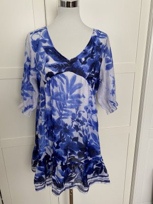 Blumarine Tunic Dress blue-white