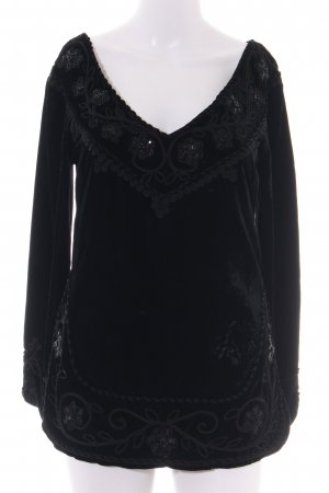 Blumarine V-Neck Shirt black casual look