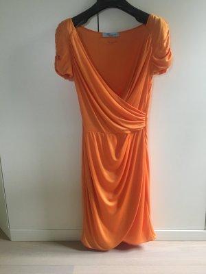Blumarine Sukienka midi pomarańczowy Wiskoza