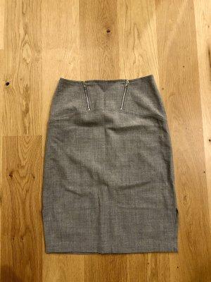 Blumarine Falda de lana gris claro