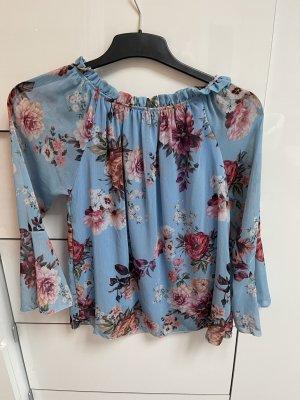 Blumen Bluse auch schulterfrei tragbar