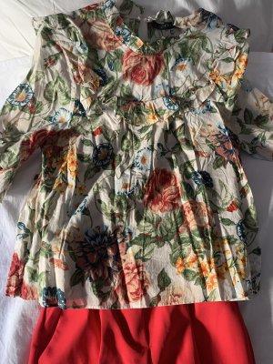 Blumen Bluse Sommerbluse Zara Topshop