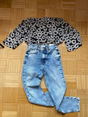 Blumen crop top Bluse