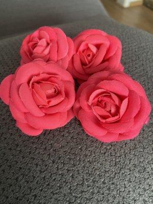 Blumen Haarklammern in Pink