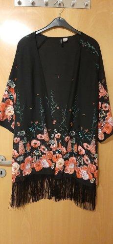 H&M Divided Kimono black-bright red
