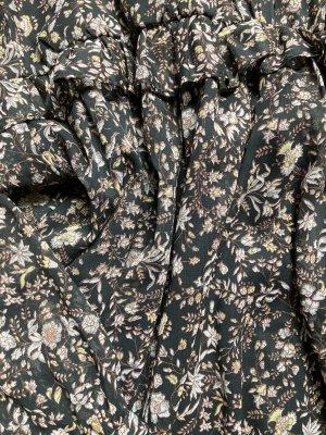 Zara Sukienka boho czarny-jasnobrązowy