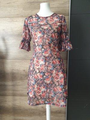 blumen mini Kleid
