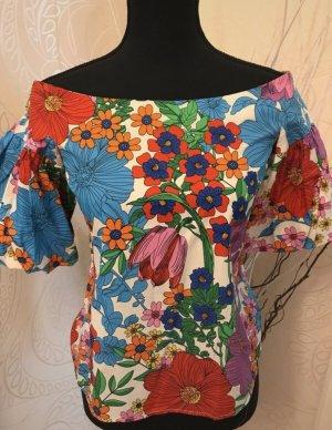 Blumen OffShoulder Bluse neu ungetragen