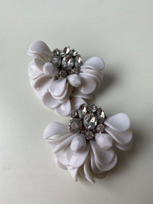 Blumen Ohrringe mit Strass