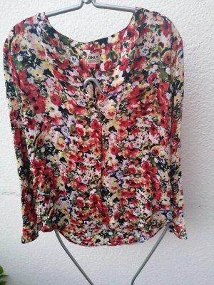 Blumen print Bluse