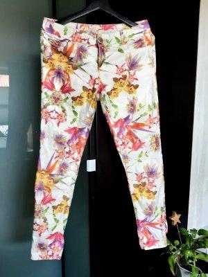 Hallhuber Spodnie rurki Wielokolorowy
