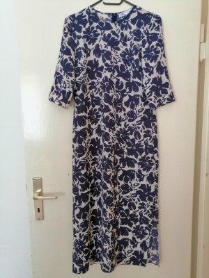 Blumen Print Kleid blau&wiße