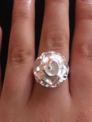 Blumen Ring Silber