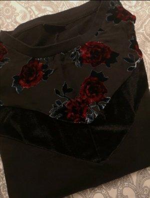 Janina Sweatshirt zwart-donkerrood