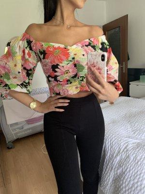 Blumenbluse von Zara