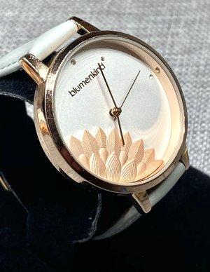 blumenkind Zegarek ze skórzanym paskiem w kolorze różowego złota-jasnoszary