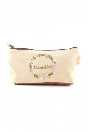 blumenkind Mini Bag natural white-brown embroidered lettering casual look