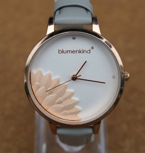 blumenkind Watch With Leather Strap rose-gold-coloured-light grey