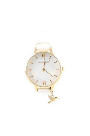 blumenkind Watch With Leather Strap white-gold-colored casual look