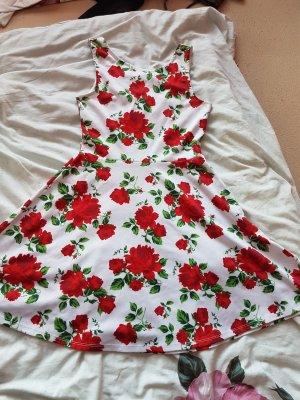 H&M Divided Vestito da spiaggia bianco-rosso