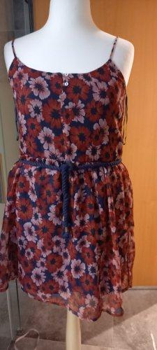 Blumenkleid rot /blau/weiß