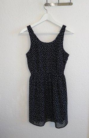 H&M Cut out jurk zwart-wit