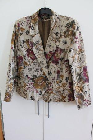 Blazer en tweed multicolore coton