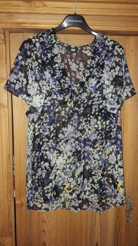 Blumenprint-Bluse, Gr. XS von H&M
