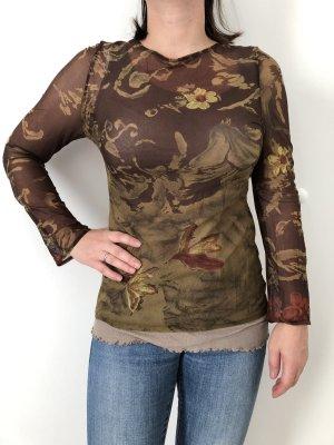 Camisa de malla multicolor