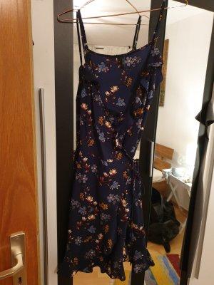 Vero Moda Vestido cruzado marrón-azul oscuro