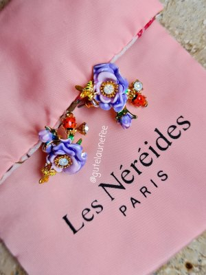 blumige Ohrringe mit kleinen Marienkäfern  von Les Néréides wie neu