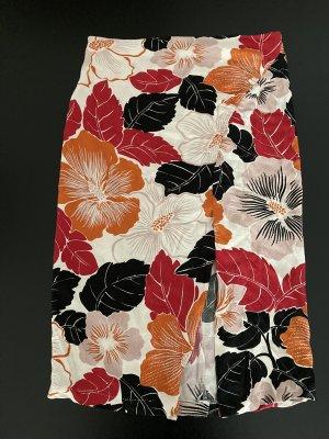 Zara Woman Spódnica midi Wielokolorowy