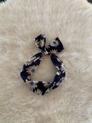 Mango Miękki kapelusz z szerokim opuszczonym rondem niebieski-ciemnoniebieski