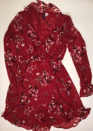 H&M Szyfonowa sukienka czerwony