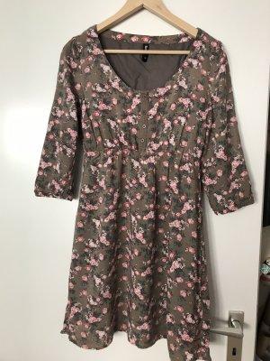 Flame Robe d'été gris brun-or rose