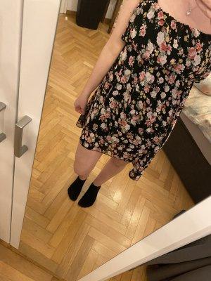 Blumiges Sommerkleid - vorne lang hinten kurz - Trägerl