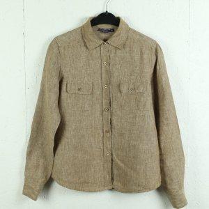 Blunauta Linen Blouse light brown-brown linen