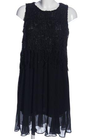 Bluoltre Vestido con flecos negro elegante