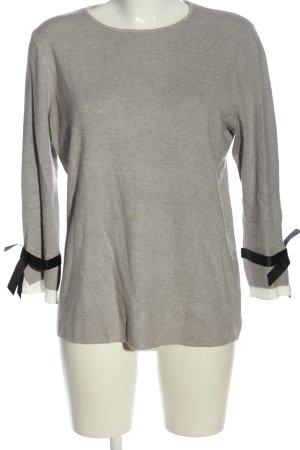 Bluoltre Sweter z okrągłym dekoltem jasnoszary Melanżowy W stylu casual