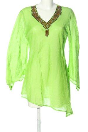 Bluoltre Bluzka przez głowę zielony W stylu casual