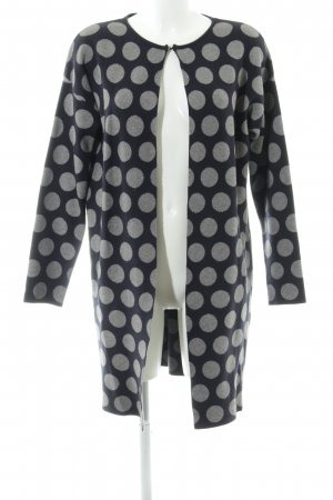 Bluoltre Knitted Cardigan dark blue-grey spot pattern casual look