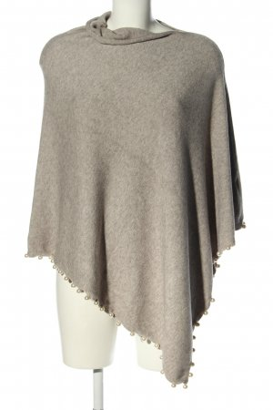 Bluoltre Knitted Poncho light grey flecked casual look