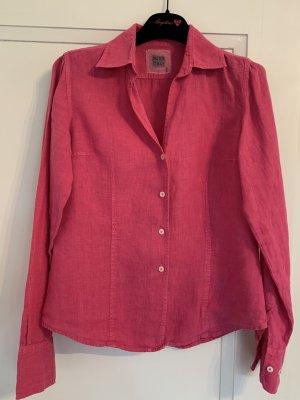 0039 Italy Blusa de lino rosa