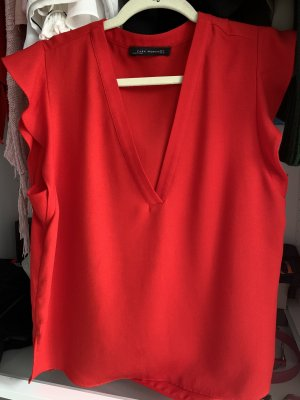 Zara Woman Blouse sans manche rouge
